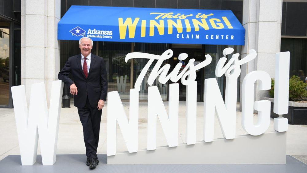 Pinnacle Signs and Graphics Interactive Lottery winning sign