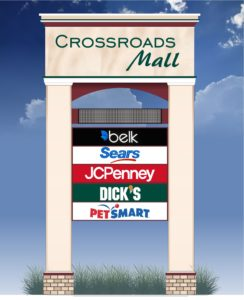 Retail signage by Skyway Outdoor inc