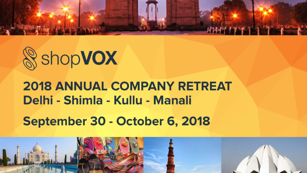 shopVOX annual retreat to India