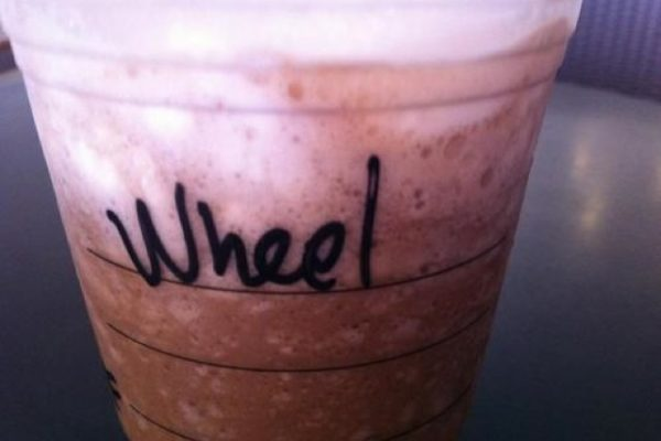 funny misspelled starbucks names, will, wheel