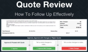 how to follow up on quote reviews effectively