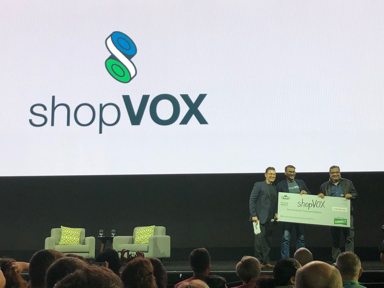 quickbooks connect on stage winner